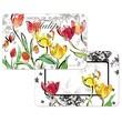 CounterArt Tulips Reversible Place Mat Set
