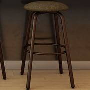 Amisco Log 27.38'' Swivel Bar Stool with Cushion; Sienna