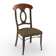 Amisco Cynthia Side Chair; Antique Brass