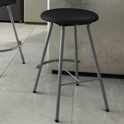 Amisco Shortcut 25.13'' Swivel Bar Stool with Cushion; Magnetite
