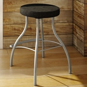 Amisco Bulb 29.88'' Swivel Bar Stool with Cushion; Magnetite