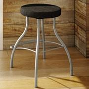 Amisco Bulb 29.88'' Swivel Bar Stool with Cushion; Magnetite