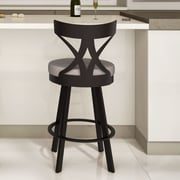 Amisco Washington 26'' Swivel Bar Stool with Cushion; Cobrizo