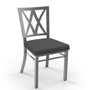Amisco Washington Side Chair; Magnetite