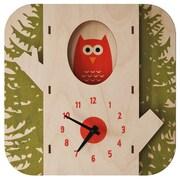 Modern Moose Tree Owl Wall Clock