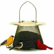 Sweet Corn Products Llc Original Caged Bird Feeder with Extended Roof; Brass