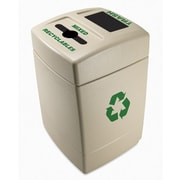 Commercial Zone Green Zone 55-Gal Multi Compartment Recycling Bin; Mixed Recyclables and Trash