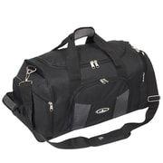 Everest 24'' Deluxe Sports Travel Duffel; Black/Gray