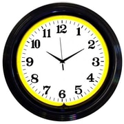 Neonetics 15'' Standard Wall Clock; Black / Yellow
