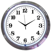 Neonetics 15'' Standard Wall Clock; Chrome White