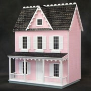 Real Good Toys Finished & Ready to Play Doll House Junior Vermont Farmhouse; Pink