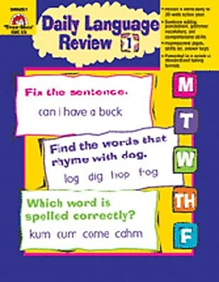 Review Evan-Moor Daily Language Review Grade 1 Book Before Too Late