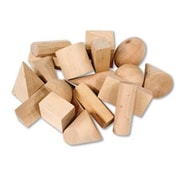 Learning Resources 19 Piece Wooden Geometric Solids  Set
