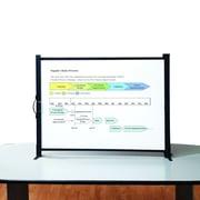 Quartet Matte White Portable Tabletop Projection Screen; 50''
