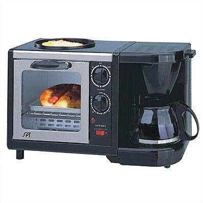 Sunpentown Stainless Steel 3- in-1 Breakfast Maker WYF078277368169