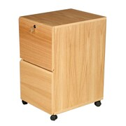Rush Furniture Modular Real Oak Wood Veneer 2-Drawer Mobile File Cabinet