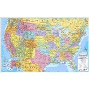 Universal Map Us & World Politcal Rolled Map Set
