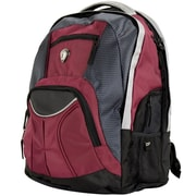CalPak Mentor 17'' Deluxe Laptop Backpack; Deep Red