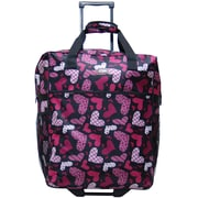 CalPak Big Easy Shopping Tote in Pink Hearts