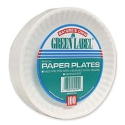 AJM PACKAGING CORP. (1000 Per Container) 6'' Paper Plates in White
