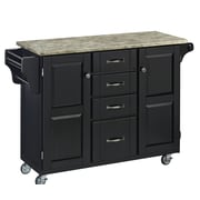 Home Styles Create-a-Cart Kitchen Island with Concrete Top; Black