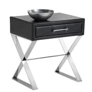 Sunpan Modern Club Casa End Table; Black Nobility