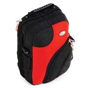 CalPak Giga 2 Multi-Pocket Computer Backpack/Shoulder Bag; Deep Red