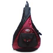 CalPak Sling Messenger Backpack; Deep Red