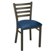 KFI Seating Dining/Breakroom Chair with Ladder Back; Navy Vinyl