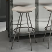 Amisco Beacon 30'' Swivel Bar Stool; Matte Light Grey/Beige