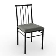 Amisco Alan Side Chair (Set of 2); Black Coral