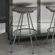 Amisco Beacon 30'' Swivel Bar Stool; Glossy Grey/Cold Grey