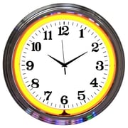 Neonetics Bar and Game Room 15'' Wall Clock; Orange