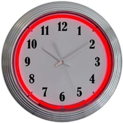 Neonetics Bar and Game Room 15'' Wall Clock; Red