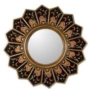 Novica Sunflower Fan Mirror