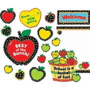 Creative Teaching Press Poppin Pattern Apples Bulletin Board Cut Out