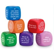 Learning Resources 6 Piece Conversation Cubes Letters Set