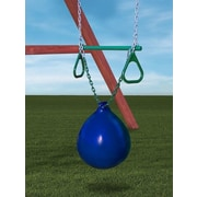 Gorilla Playsets Buoy Ball withTrapeze Bar Accessory; Blue