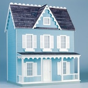 Real Good Toys Finished & Ready to Play Doll House Junior Vermont Farmhouse; Blue