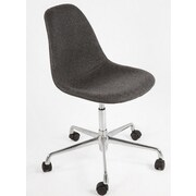 Stilnovo The Mid Century Mid-Back Task Chair; Dark Grey