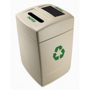 Commercial Zone Green Zone 55-Gal Multi Compartment Recycling Bin; Paper and Trash
