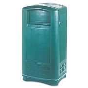 Rubbermaid Plaza In/Outdoor 35-Gal Rectangular  Waste Container