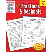 Scholastic Scholastic Success With Fractions and Decimals Book