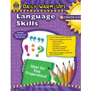 Teacher Created Resources Daily Warm Ups Language Skills Grade 6 Book