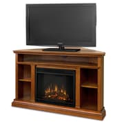 Real Flame Churchill TV Stand w/ Electric Fireplace; Oak