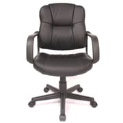 Comfort Products Relaxzen Massage Mid-back Leather Conference Chair; Black