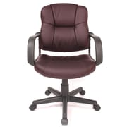 Comfort Products Relaxzen Massage Mid-back Leather Conference Chair; Brown