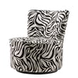 Kingstown Home Alfosa Zebra Print Swivel Accent Chair