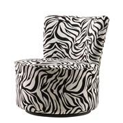 Kingstown Home Alfosa Zebra Print Swivel Accent Chair