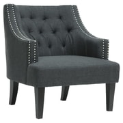 Wholesale Interiors Baxton Studio Millicent Arm Chair; Charcoal Grey